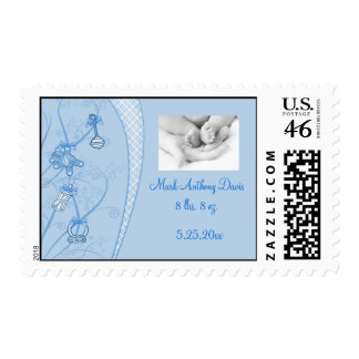Our New Addition In Blue Hues Postage Stamps