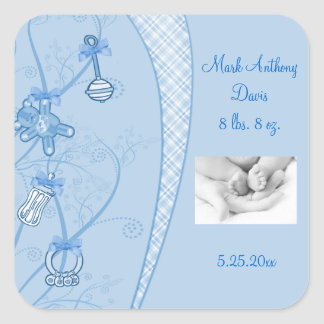 Our New Addition In Blue Hues Sticker