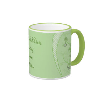 Our New Addition In Green Hues Ringer Coffee Mug