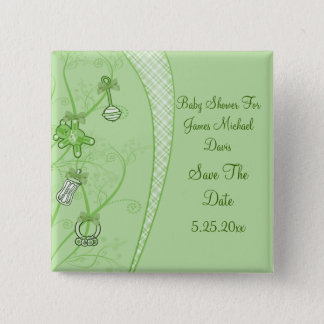 Our New Addition In Green Hues Pinback Button