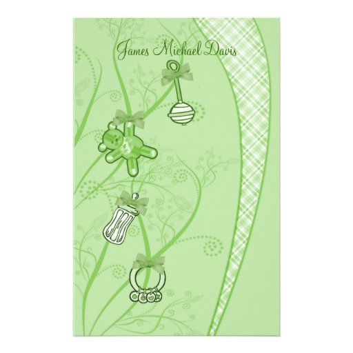 Our New Addition In Green Hues Stationery Design