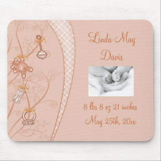 Our New Addition In Peach Hues Mouse Pad