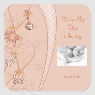 Our New Addition In Peach Hues Stickers