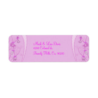 Our New Addition In Pink Hues Return Address Label
