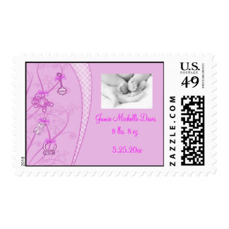 Our New Addition In Pink Hues Postage Stamps