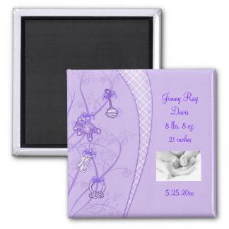 Our New Addition In Purple Hues 2 Inch Square Magnet