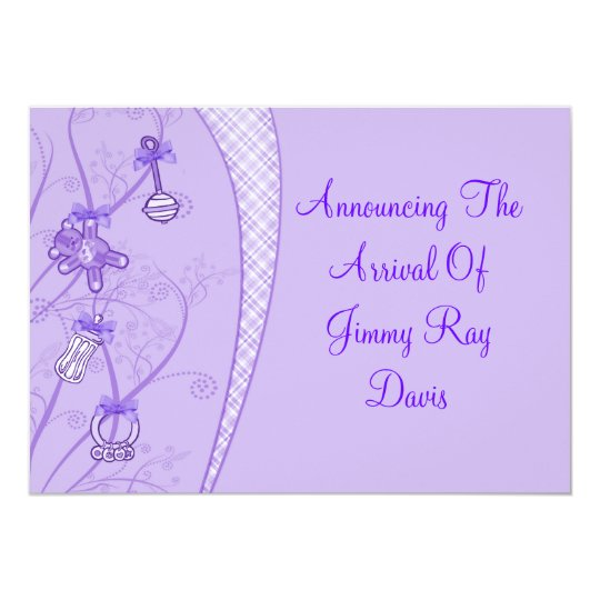 Our New Addition In Purple Hues Card