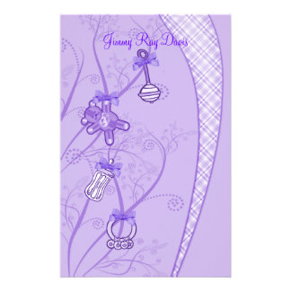 Our New Addition In Purple Hues Stationery Design