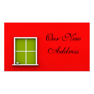 OUR NEW ADDRESS BUSINESS CARDS