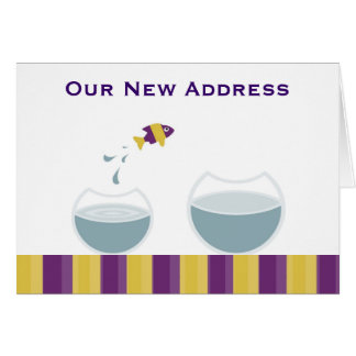 Our new address card