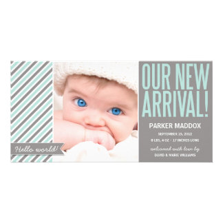 OUR NEW ARRIVAL IN GRAY | BIRTH ANNOUNCEMENT