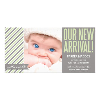 OUR NEW ARRIVAL IN GREEN | BIRTH ANNOUNCEMENT