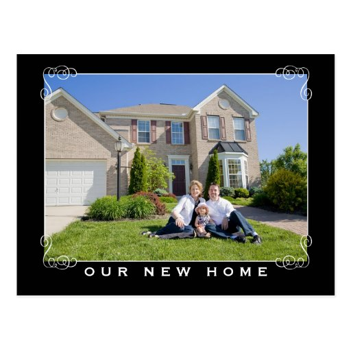 Our New Home & Address Photo Postcard