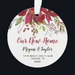 "Our New Home Floral Ornament | New Home Gift<br><div class=""desc"">Our New Home Floral Ornament 
