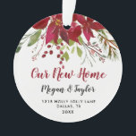 """Our New Home Floral Ornament 