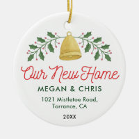 Our New Home | Moving Announcement Ceramic Ornament