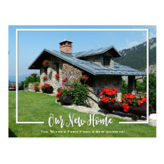 Our New Home Photo We've Moved Announcement Postcard at Zazzle
