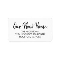 Our New Home Return Address Labels