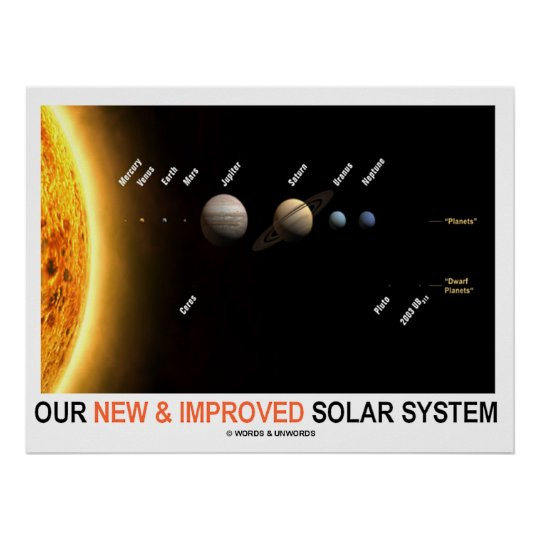 Our New & Improved Solar System Poster