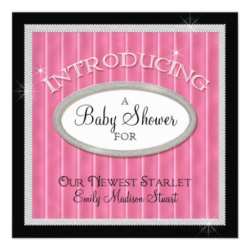 our newest starlet hollywood glam baby shower square paper