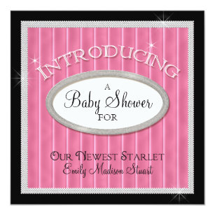 Our Newest Starlet Hollywood Glam Baby Shower Invitation