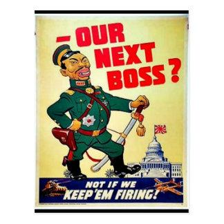 Our Next Boss Postcard