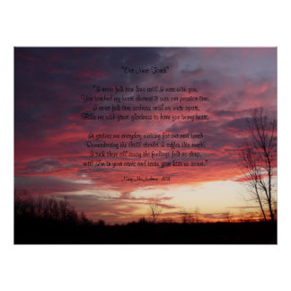 """Our Next Touch"" Love Poem Sunrise Sunset Poster"