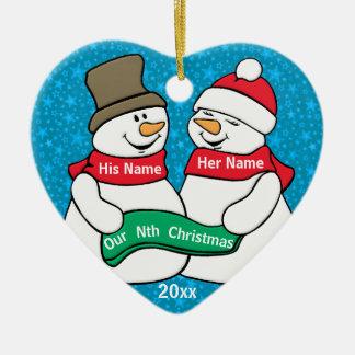 Our Nth Christmas Ceramic Ornament