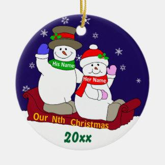 Our Nth Christmas Christmas Ornaments