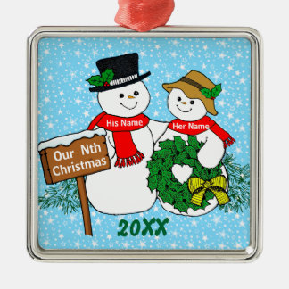 Our Nth Christmas Metal Ornament