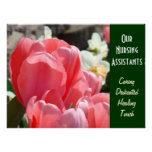 Our Nursing Assistants art prints Caring Healing Poster