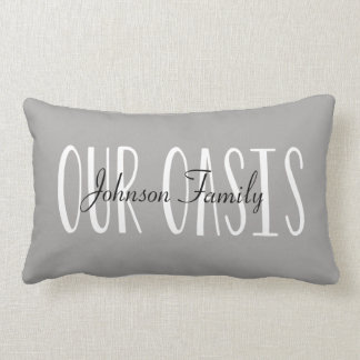 Our Oasis Pillow Personalized with Name
