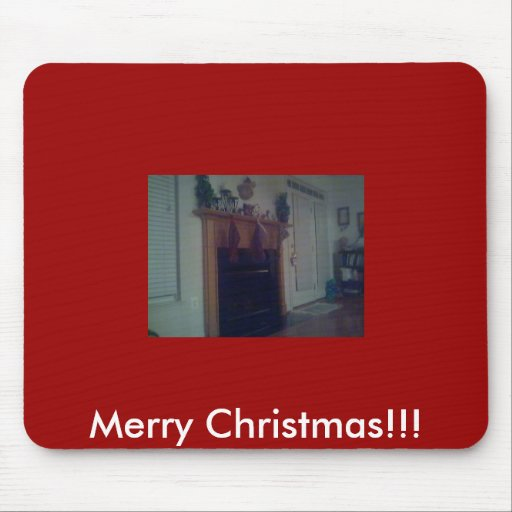 our old fireplace, Merry Christmas!!! Mouse Pad