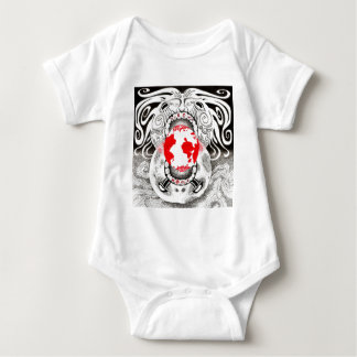 Our Own World Black and Red Tamsin Doherty Baby Bodysuit