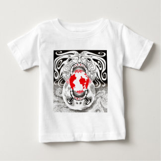 Our Own World Black and Red Tamsin Doherty Infant T-shirt