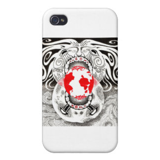 Our Own World Black and Red Tamsin Doherty iPhone 4 Cover