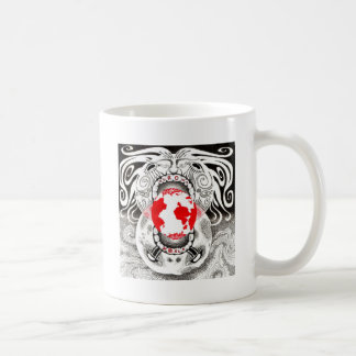 Our Own World Black and Red Tamsin Doherty Mugs
