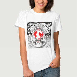 Our Own World Black and Red Tamsin Doherty T-shirts