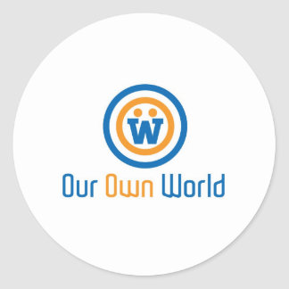 Our Own World Logo by Gimasra Classic Round Sticker