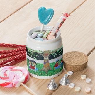Our Peace Tree Candy Jar