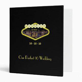 Our Perfect 10 Wedding Las Vegas Album Vinyl Binders