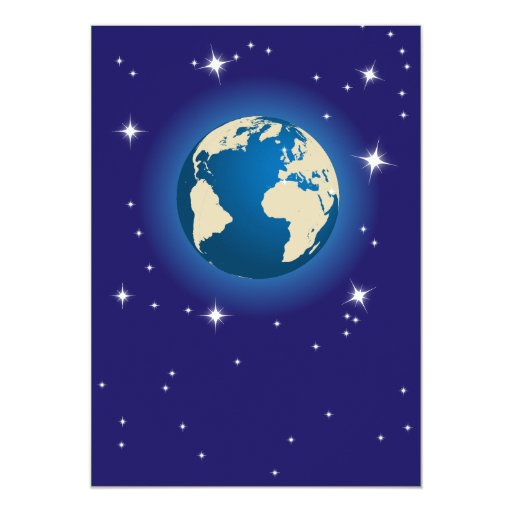 Our planet 5x7 paper invitation card