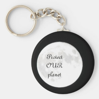 Our Planet Basic Round Button Keychain
