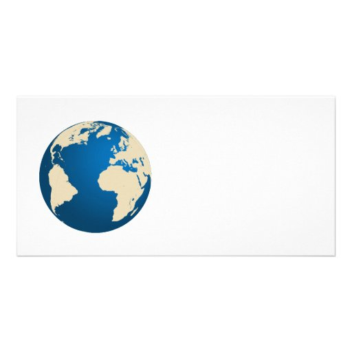 Our planet photo greeting card