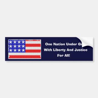 Our Pledge Car Bumper Sticker