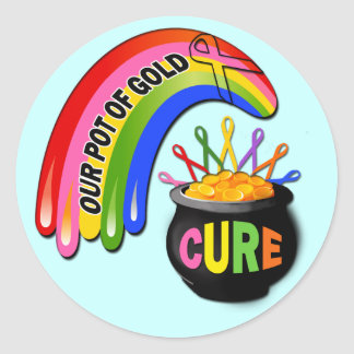Our Pot Of Gold Awareness Design Classic Round Sticker