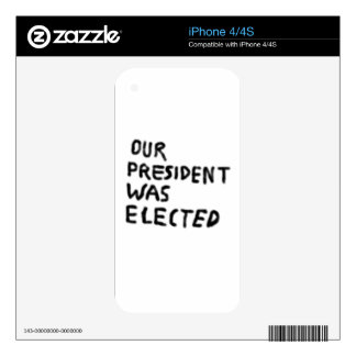 Our President Was Elected iPhone 4S Decals