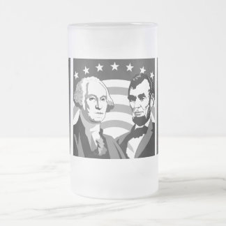 Our Presidents - Frosted Glass Beer Mug