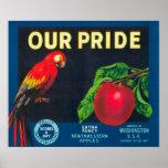 Our Pride Apple Label - Washington State Print
