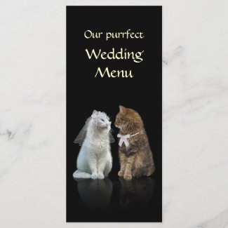 Our Purrfect Wedding Menu